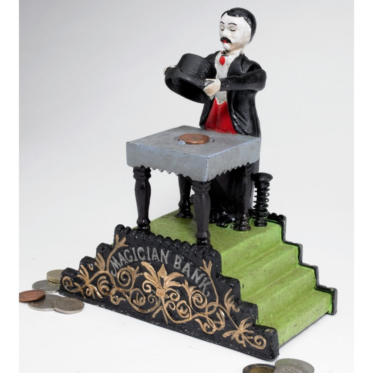 Design Toscano Maitland the Magician Authentic Foundry Iron Mechanical Bank by Design Toscano (Image #2)