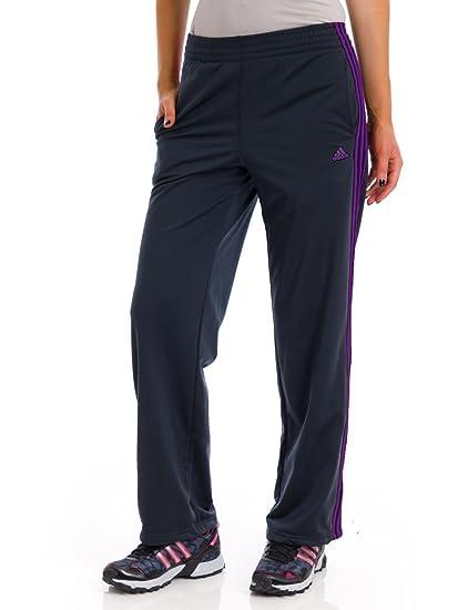 adidas Women's 3-Stripe Pant (Night Grey/Purple) X-Small