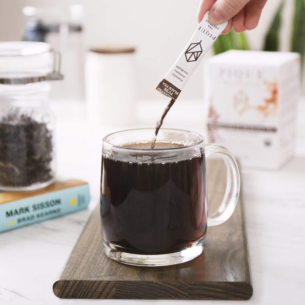 Pique Tea Organic Fermented Pu'er Black Tea - Immune Support, Gut Health, Fasting