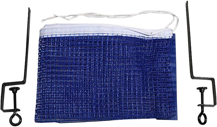 LIOOBO Juego de Herramientas de Marco de Poste de Tenis de Mesa Neto de Tenis de Mesa portátil Juego de combinación de Soporte de Rack de Red Simple (Azul)