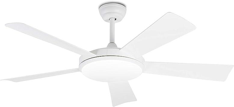 FARO BARCELONA 33803 - SAONA LED Ventilador de Techo Blanco con Motor DC: Amazon.es: Hogar