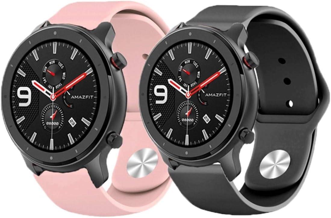 ✅ YUVASA Correa para Amazfit GTR 47mm smartwatch xiaomi Nuevo ...