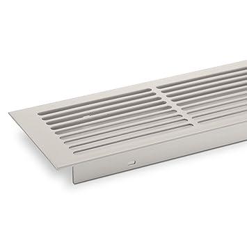 SO-TECH/® L/üftungsgitter Aluminium 500 x 86 mm Stegblech Gitter wei/ß lackiert
