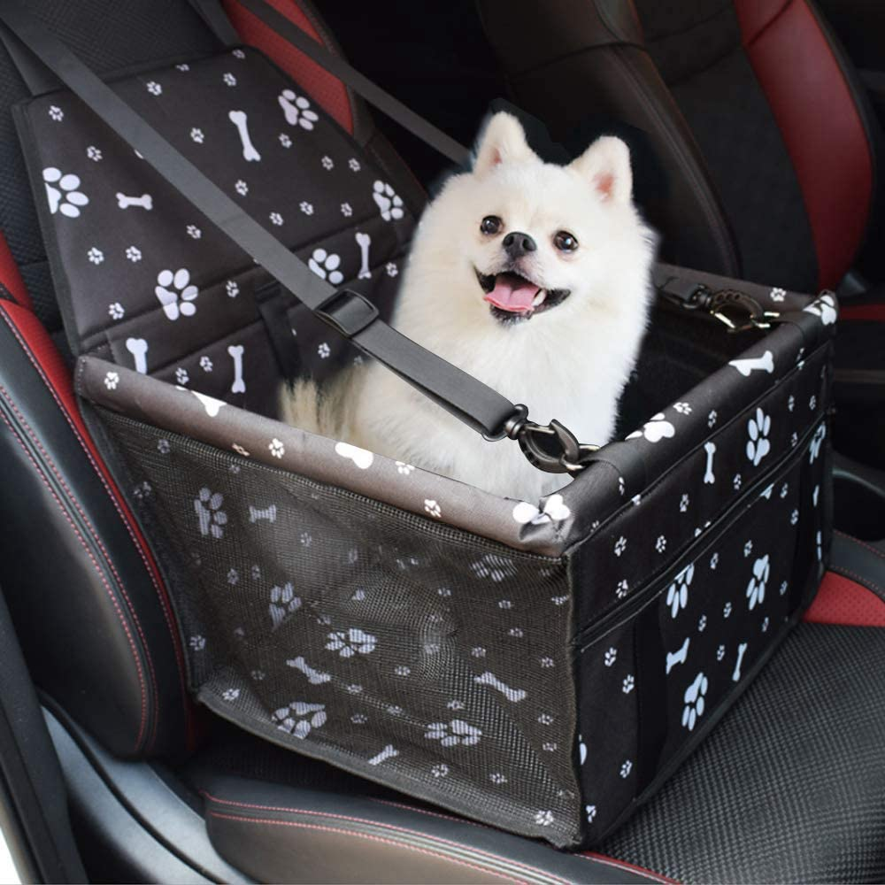 Travel Seat protector Dog Basket for Back Seat Front Seat Dog Seat Cove,Pet Safety for Dogs or Cats YAOJU Dog Booster Seat Waterproof Dog Seat Covers Pet Car