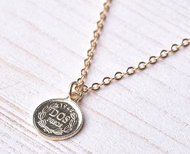 e2c0339b2c9f6 Handmade Long Gold Filled Coin Pendant Necklace For Men By Galis Jewelry -  Gold Filled Necklace For Men - Coin Necklace For Men