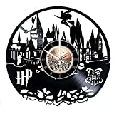Hogwarts Harry Potter Vinyl Record Wall Clock – Kids Room wall decor -Gift ideas for kids Review