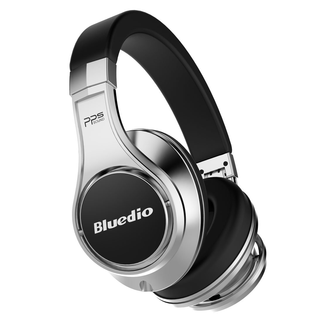 Bluedio U (UFO) Faith series High-End Bluetooth headphones Revolution Patented 8 Tracks /3D Sound Effect /Aluminum alloy build/Hi-Fi Rank wireless& wired Over-Ear headphones/headset with carrying hard case Gift-package (Black-Silver) CCK (HK) Co. Ltd.-
