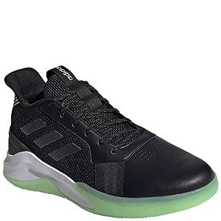 adidas Men's RunTheGame Running Shoe, Black/Grey/Glow Green, 9.5 M US
