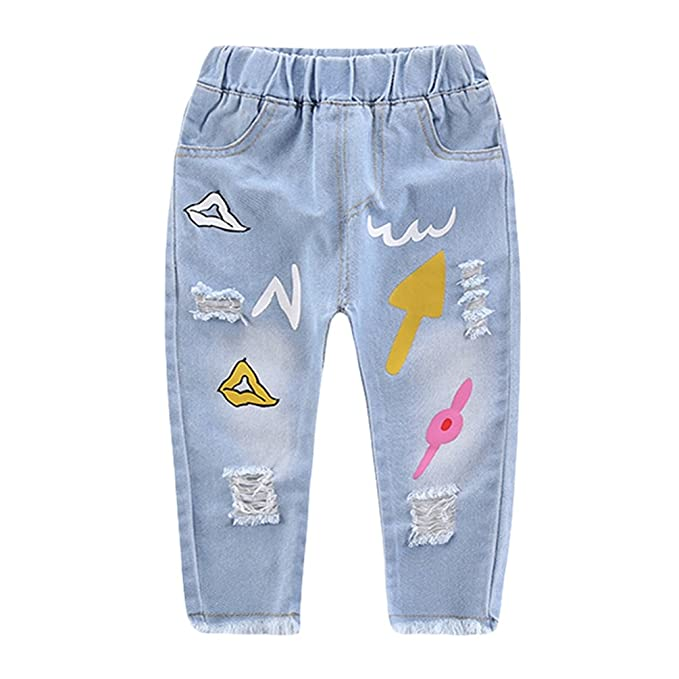 Yujeet Moda Rodilla Pantalones Largos De Mezclilla para ...