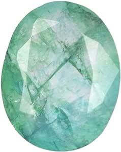 Real Gems Piedra Preciosa Suelta Esmeralda facetada Natural de AAA, Color Verde Niza Brillo 5.00 CT Forma Ovalada Piedra Preciosa Esmeralda