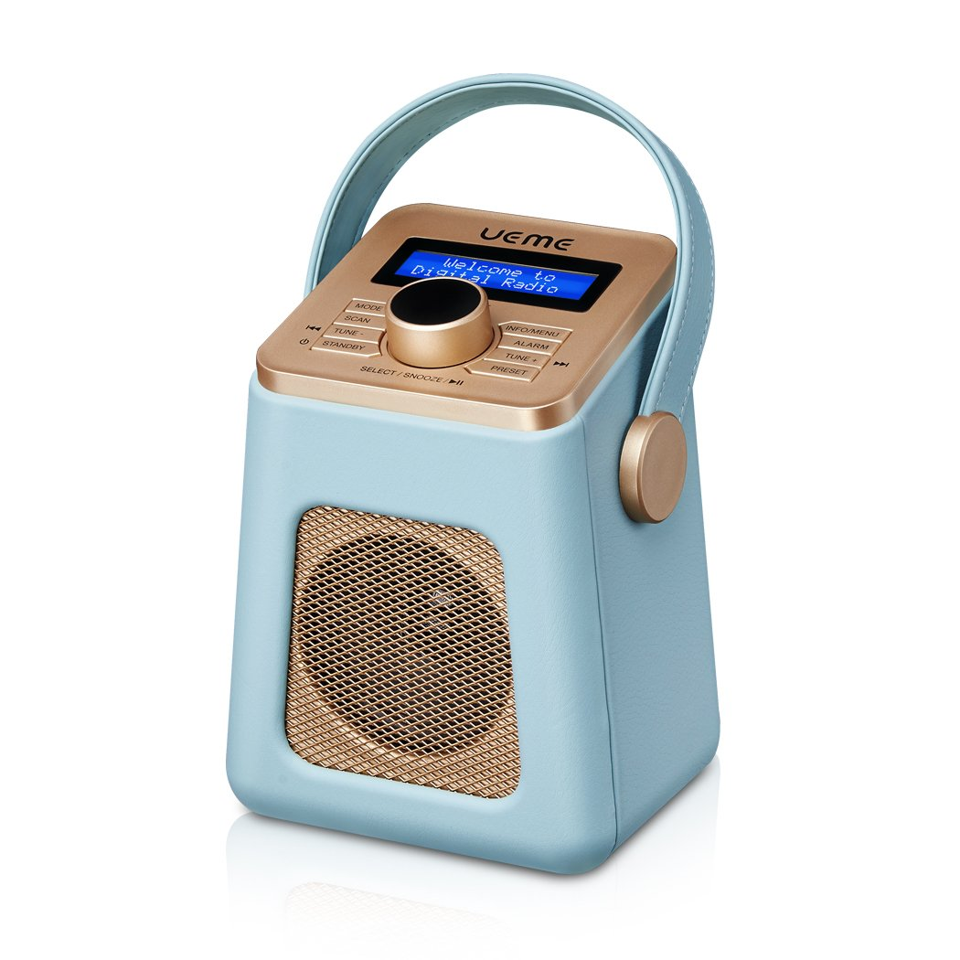UEME Mini DAB+ DAB Digitalradio und UKW Radio mit Bluetooth, Nostalgie Radios mit Uhr und Weckerfunktion (Blau) product image