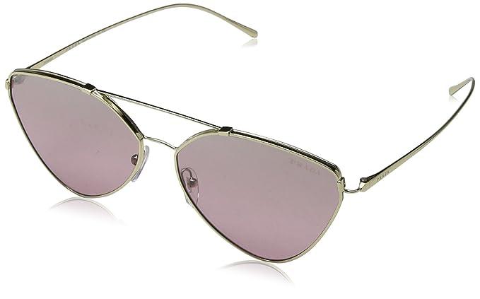 Prada Damen Sonnenbrille 0PR51US ZVN095, Gold (Pale Gold/Violet Silver), 62
