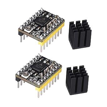 KINGPRINT TMC2130 V3.0 DIY StepStick Disque dur silencieux avec radiateur pour carte de commande dimprimante 3D 4 pcs