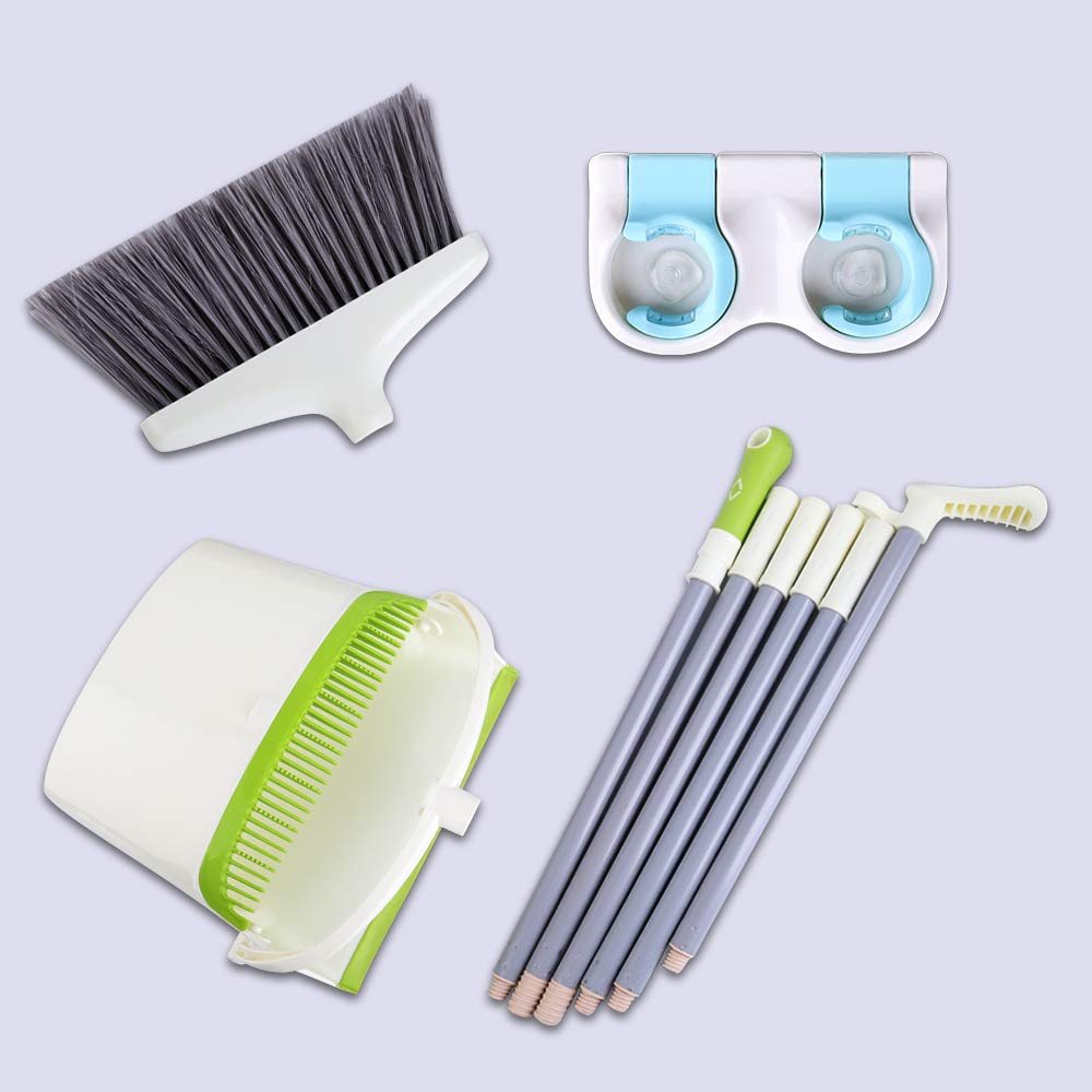Broom and Dustpan Set with Long Extendable Handle-Wisp and Pet Hair Cleaning,Ideal Kitchen, Home Ourdoor Lobby Upright Broom and Dust pan Combo with Holder by Skizem (Image #7)