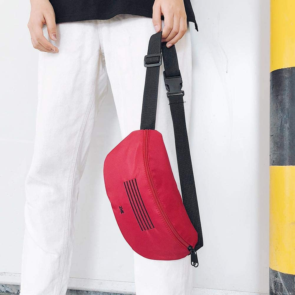 Tuankay Girl Waist Bags Harajuku Canvas Letter Print Hobos Shoulder Bag