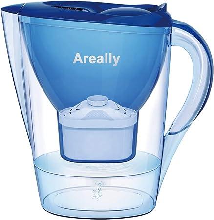 Areally Jarra de Filtro de Agua, 2,8 litros de Capacidad, Filtro ...
