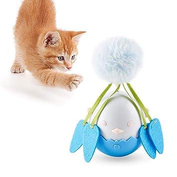 AOLVO - Juguete para Gato con Forma de Gato, Giratorio y automático, Juguete electrónico