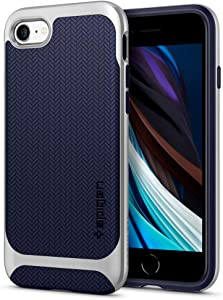 Spigen Neo Hybrid Designed for iPhone SE 2020 Case/Designed for iPhone 8 Case (2017) / Designed for iPhone 7 Case (2016) - Satin Silver