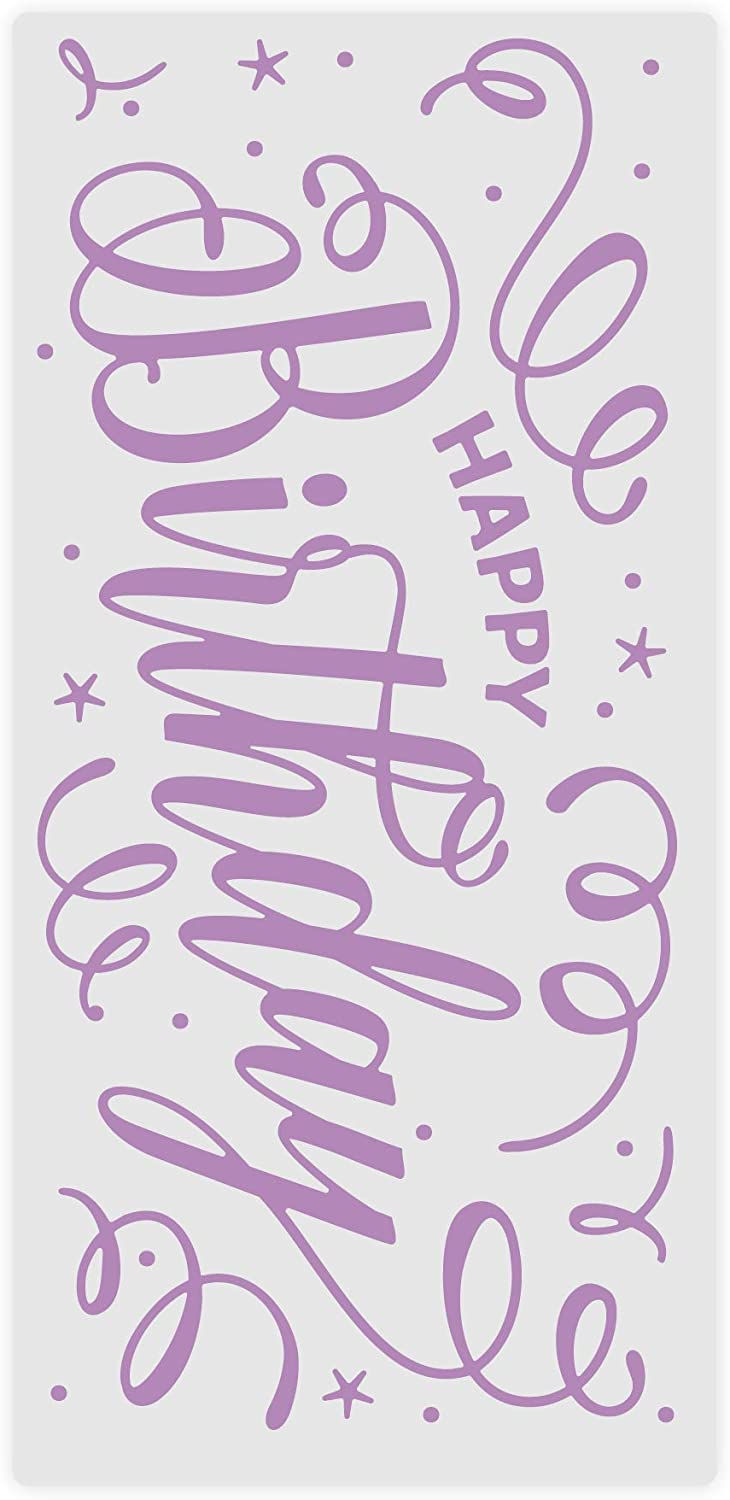 Crafters Companion GEM-EF-BIR Gemini Embossing Folder 5.75 x 2.75-Birthday Banner 5.75 x 2.75 inches