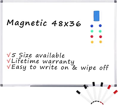 Magnetic Whiteboard For Kids With Pen and Magnets DRY WIPE SCHOOL HOME
