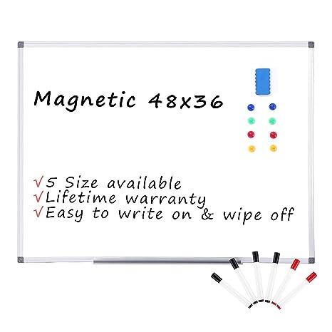 Amazon.com: Pizarra blanca magnética de borrado en seco ...