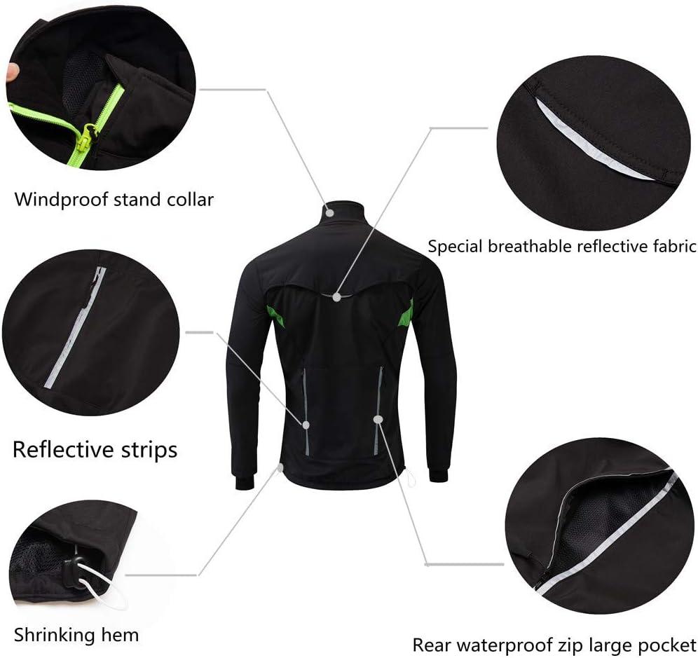JOGVELO Cycling Jacket Winter Waterproof Cycling Mens Thermal Windproof Ultra-Light Reflective for Men Women