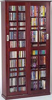 Leslie Dame MS 700DC Mission Multimedia DVD/CD Storage Cabinet With Sliding  Glass Doors