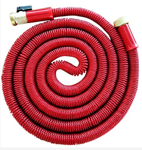 KLAREN 75' Expanding Hose, Strongest Expandable Garden Hose on the Planet. Solid Brass Ends, Double Latex Core, Extra Strength Fabric, 2016 design Fathers Mothers Day Gift US Seller
