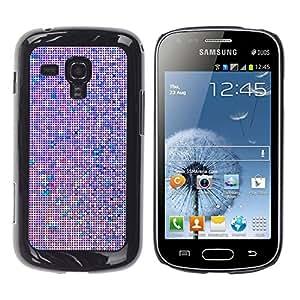 YOYOYO Smartphone Protección Defender Duro Negro Funda Imagen Diseño Carcasa Tapa Case Skin Cover Para Samsung Galaxy S Duos S7562 - pantalla del monitor computer art pixel púrpura