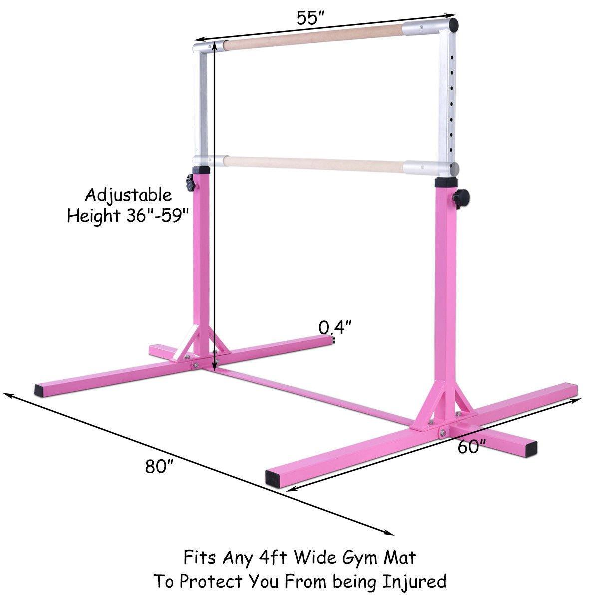 Amazon.com: ayamastro horizontal ajustable tren Bar w ...