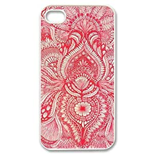 Red CUSTOM Cover Case for iPhone 4,4S LMc-75612 at LaiMc
