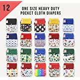 NEW ITEM! 12 KaWaii Baby One Size Heavy Duty HD3 Pocket Cloth Diapers + 24 Inserts