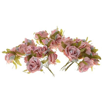 Amazon jili online 30pcs artificial rose buds flower bouquet jili online 30pcs artificial rose buds flower bouquet diy craft home decor dusty pink mightylinksfo