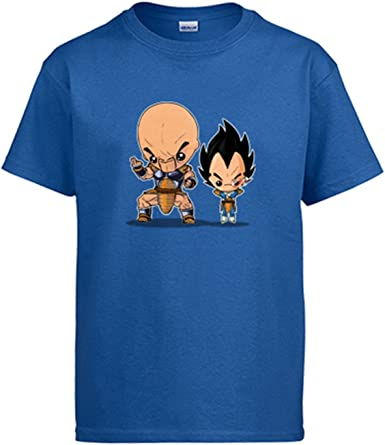 Diver Camisetas Camiseta Chibi Kawaii Vegeta y Nappa Parodia de Dragon Ball: Amazon.es: Ropa y accesorios