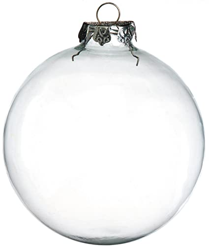 Darice 2 Piece Glass Balls 100mm Clear