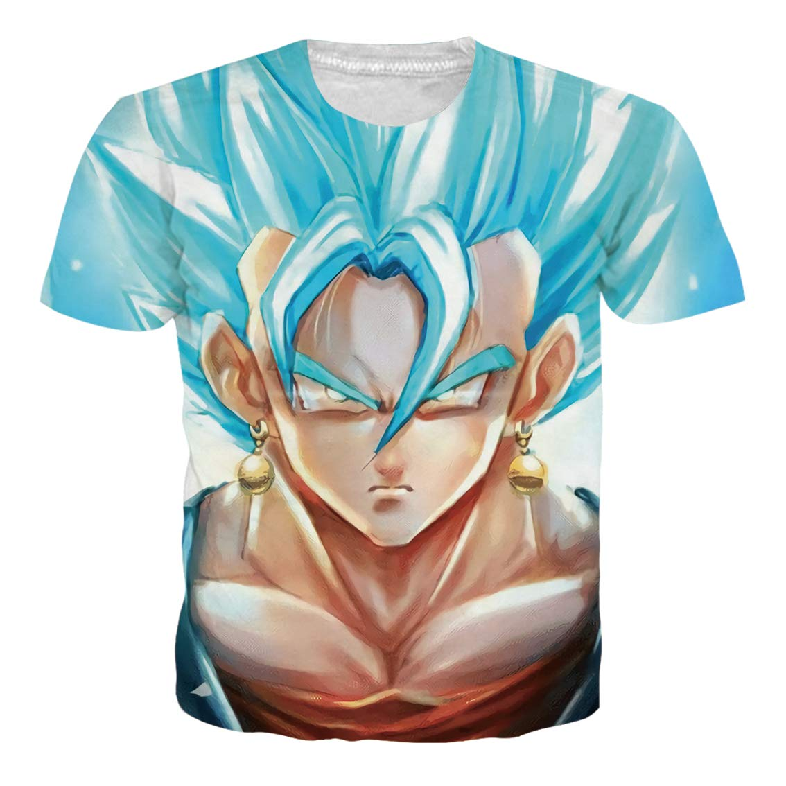 Ocsoc Unisex Anime Dragon Ball Z T-Shirt with Funny Print Cartoon Casual Pullover Tops XL, for Daily Life Leisure