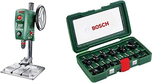 Bosch PBD 40 - Taladro de columna (710 W, caja de cartón) + Bosch 2607019469 - Pack de 15 fresas con inserción de 8 mm: Amazon.es: Bricolaje y herramientas