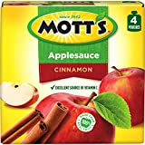 Mott's Cinnamon Applesauce, 3.2 Ounce Pouch, 4 Count (Pack of 6)