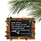 NFL New England Patriots Resin Chalkboard Sign Ornament, Blue, One Size