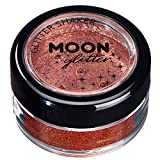 Fine Glitter Shakers by Moon Glitter – 100% Cosmetic Glitter for Face, Body, Nails, Hair and Lips - 0.17oz - Copper Bronze