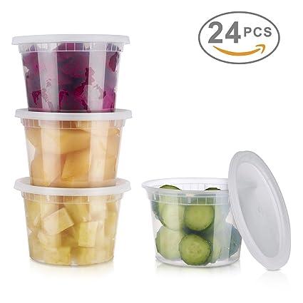 Amazoncom Glotoch 24 Pack Durable Plastic Microwaveable Reusable