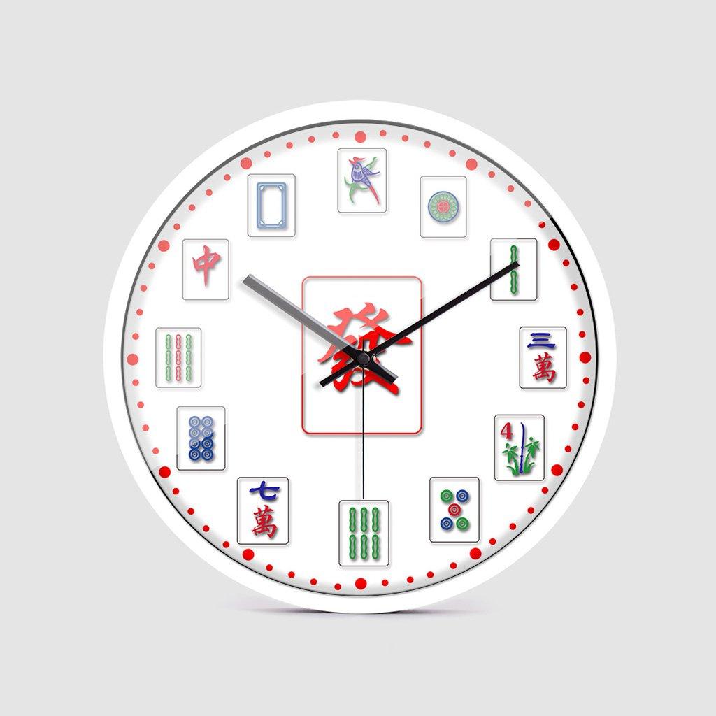 YONGJUN 12インチの壁時計 麻雀ウォールクロック麻雀オフィス居間の壁クリエイティブパーソナリティ大きなクォーツ時計 (色 : White bezel, サイズ さいず : 12-inch) B07CLYWHBV 12-inch|White bezel White bezel 12-inch