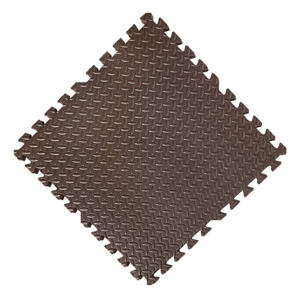 marron 30-Tiles AWSAD Tapis De Sol Et Bébé en Mousse avec Bordure Imperméable Non Toxique Gym, Plusieurs Couleurs, 30x30x2.5cm (Couleur   rose, Taille   16-Tiles)