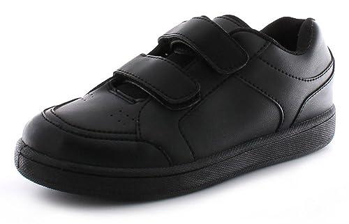 Infantil/Niños Doble Touch Rockstorm CIERRE Zapatillas Negras- Negro/Negro - GB Tallas 1-13 - Negro/negro, 30.5 EU: Amazon.es: Zapatos y complementos