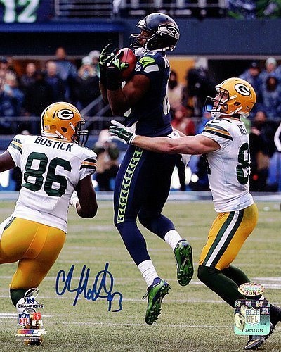 Chris Matthews Signed 8x10 Photograph Seattle Seahawks The Recovery - Autographed Football Photograph