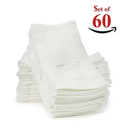 Classic dos docenas de valor pack terry cloth toallitas/toallas de cara – 100%
