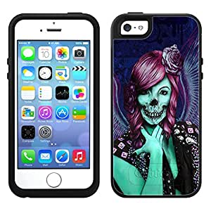 Skin Decal for OtterBox Symmetry Apple iPhone 5 Case - Groupie Skull