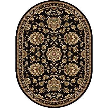 universal rugs charlotte traditional oriental black oval area rug 5u0027 x 8u0027 oval