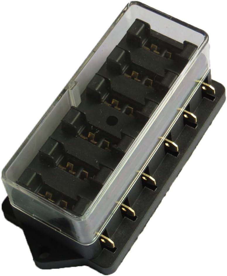 E Support/™ camion auto a 10 vie supporto blocco scatola dei fusibili lama circuito ATO standard di 12V 24V
