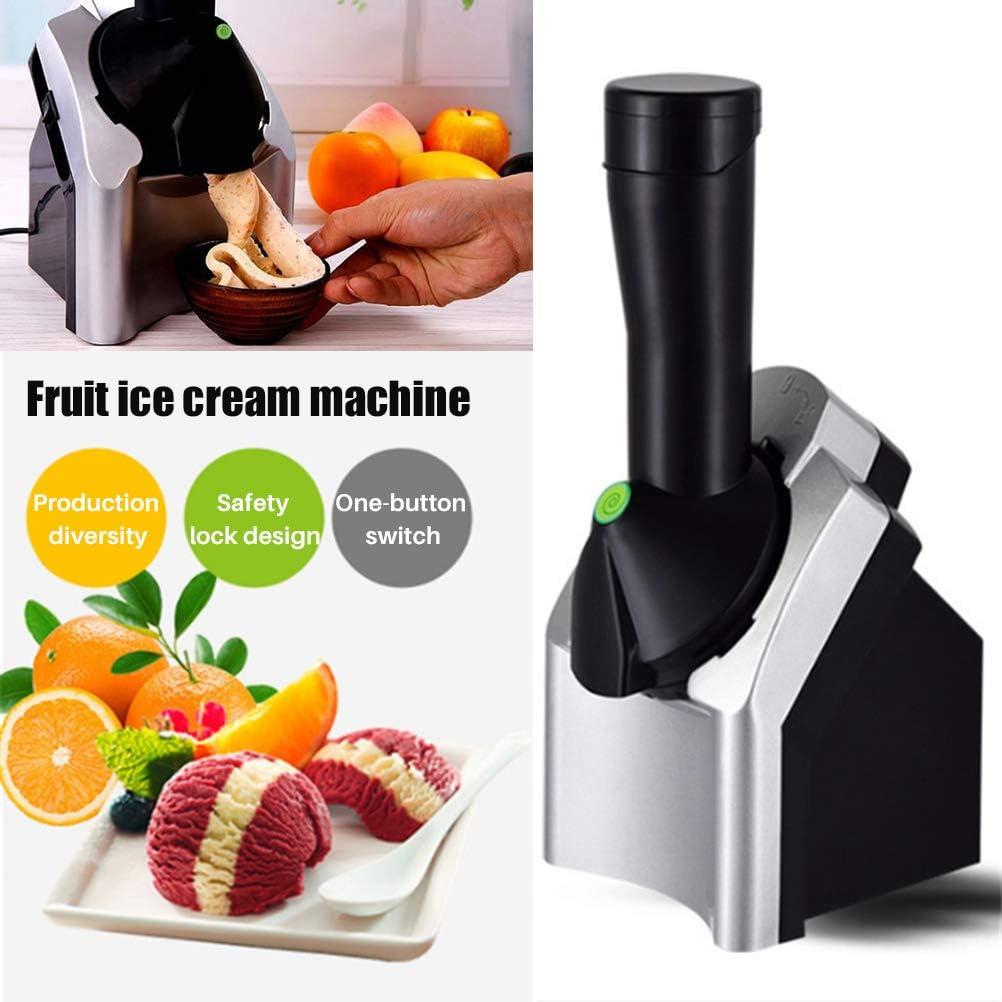 BakaKa Ice Cream Maker Machine Ice Sorbets Frozen Yogurt Maker Dessert Fruit Soft Ice Cream Machine per Uso Domestico